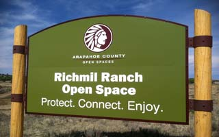 Sign of the Richmil Ranch Open Space